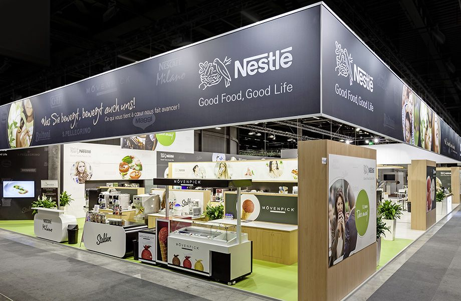Nestle Exhibition Booth : Nestlé at igeho in basel exhibition stands medium