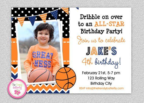 Basketball Birthday Invitation Boys Sports by TheTrendyButterfly – Birthday Invitation Boys