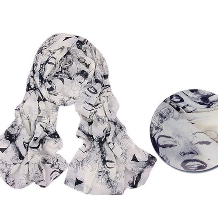 Printed velvet chiffon scarves winter scarves chiffon scarves Marilyn Monroe