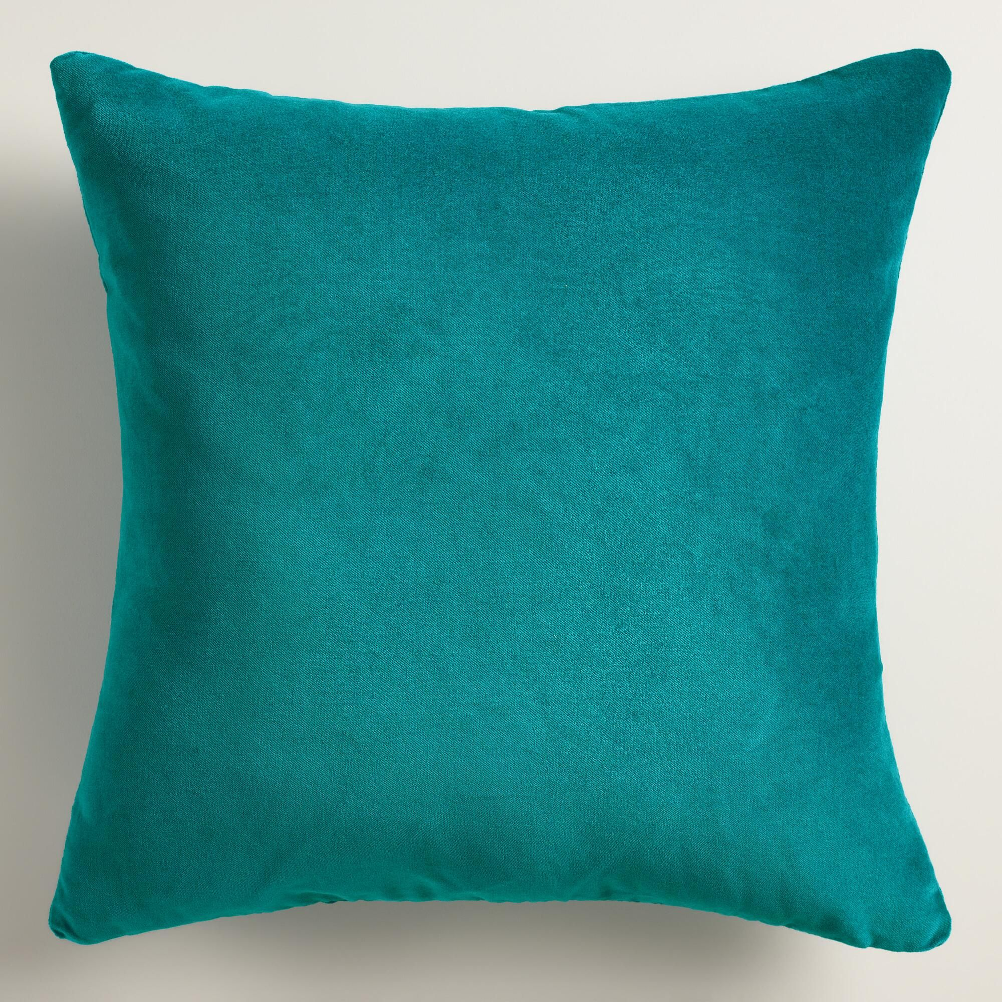 amazon accent dp case com teal kitchen cushion blue throw pillow decorative cover linen pillows floral cotton home