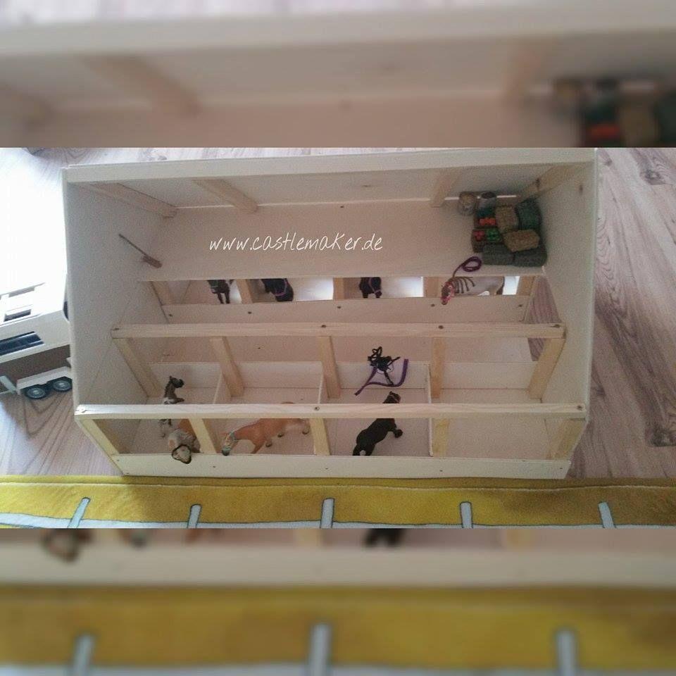 diy wir bauen einen schleich pferdestall reithalle mini stable farm pinterest stables. Black Bedroom Furniture Sets. Home Design Ideas