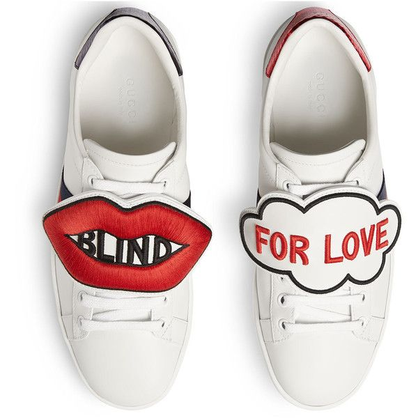 9116e3ec0ac4 Gucci Blind For Love New Ace Sneaker ( 695) ❤ liked on Polyvore featuring  shoes