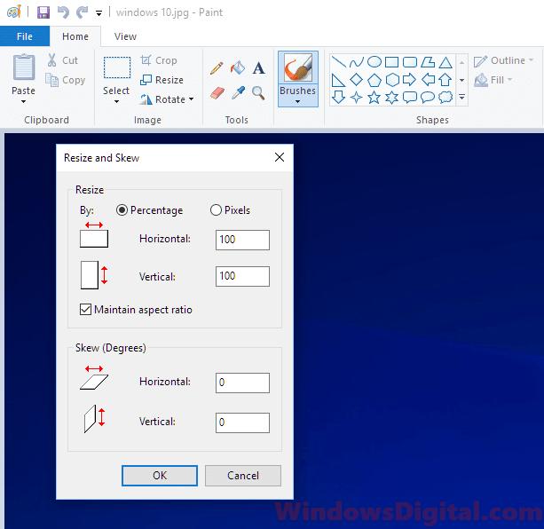 Resize Images Photos Windows 10 With Paint Photo Apps Resize Image Windows 10