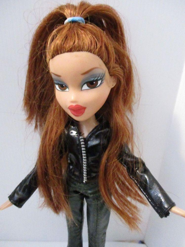 Bratz Doll Red Lips Long Red Hair Vinyl Jeans Jacket Boots Bratz Long Red Hair Bratz Doll Red Hair