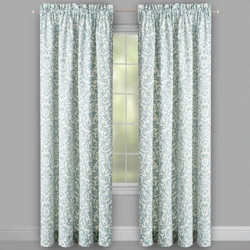 Waverly® Duncan Damask Window Curtains, Set of 2