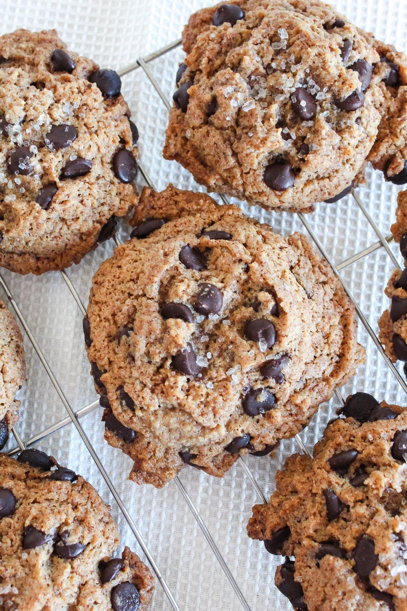 Chewy Keto Chocolate Chip Cookies With Sea Salt Recipe Keto