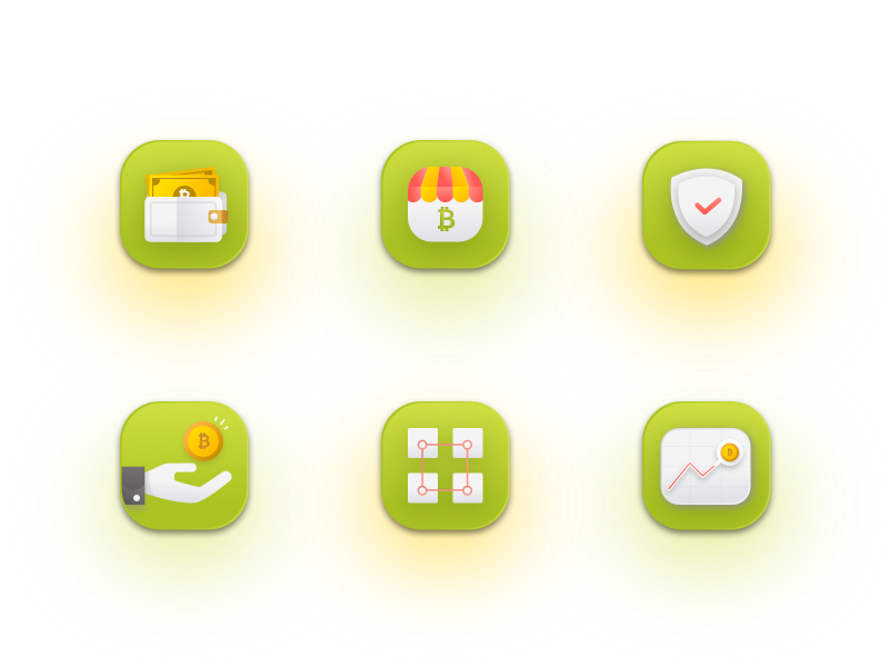6 Crypto Icons Icon, Animated icons, Freebie