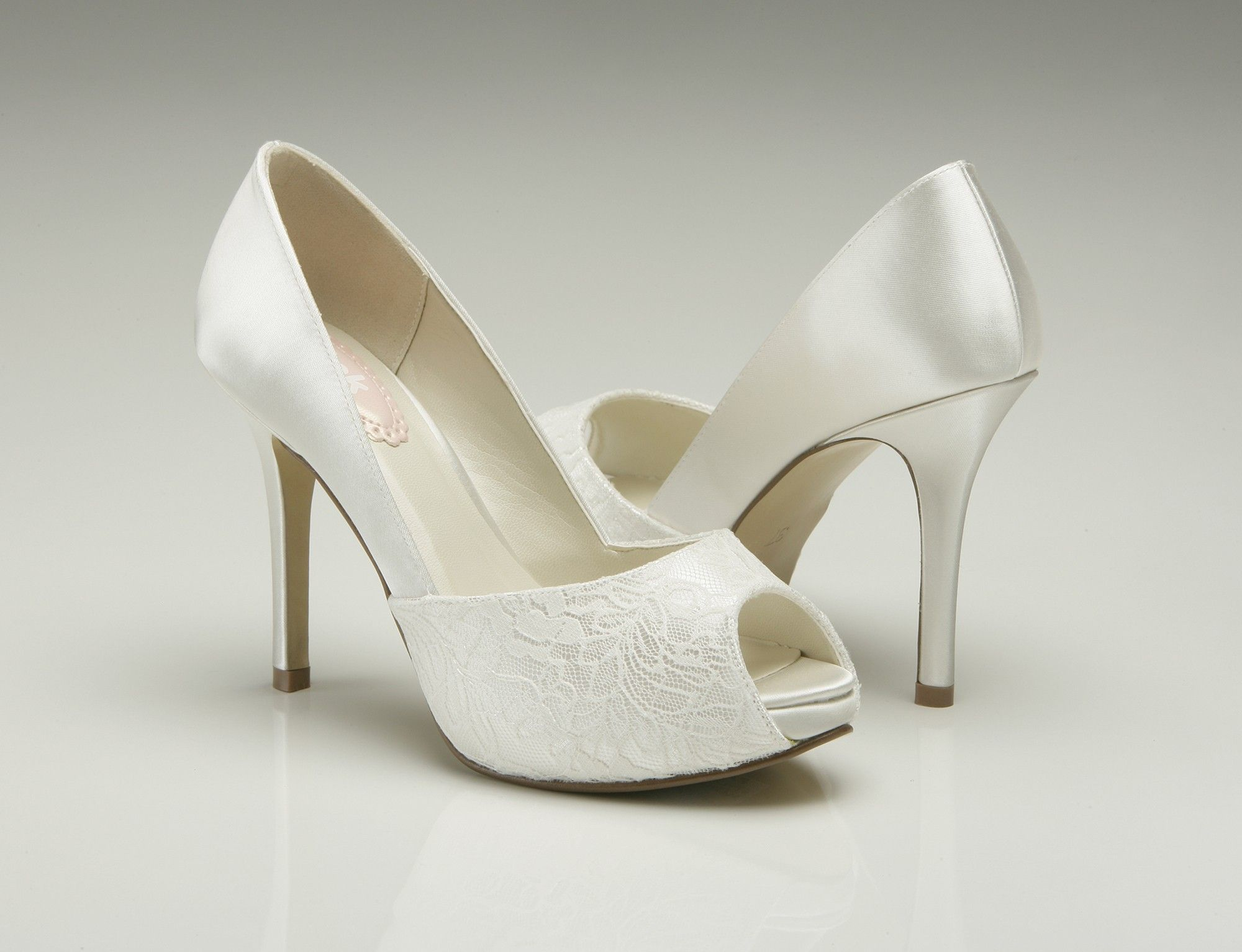 Pink Wedding Shoes Low Heel: Pink Paradox Fancy Ivory Wedding Shoes