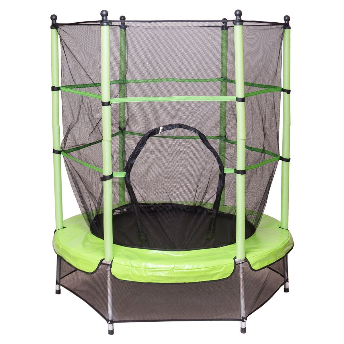 55 round exercise jumping trampoline with safety pad