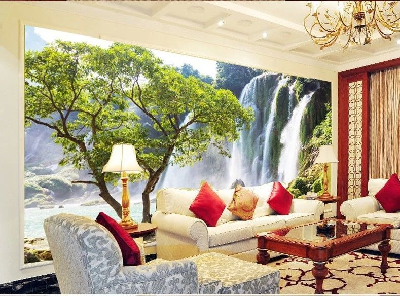 3d wallpaper bedroom mural roll modern landscape scenery for Modern 3d wallpaper for bedroom