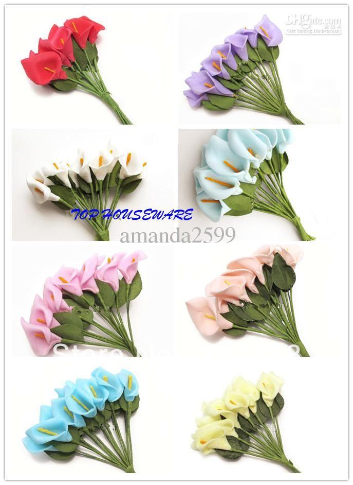 Wholesale Small Calla Bouquet - Buy /60Bunches Small Calla Bouquet PE Artificial Mini Calla Lily Flower DIY Wedding Candy Box Home Decoration, $0.07 | DHgate