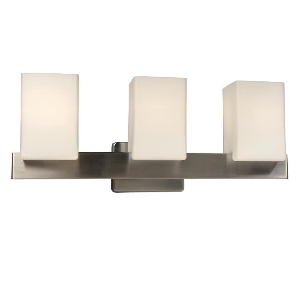 Filament Design Negron 3 Light Brushed Nickel Incandescent Bath Vanity Light Cli Xy5199486 The Home Depot In 2020 Vanity Lighting Bath Vanity Lighting Bath Vanities