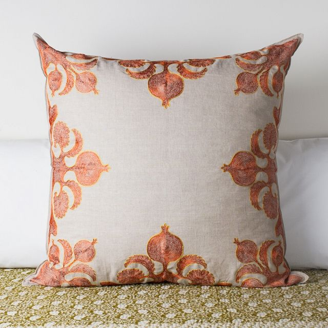 Pomegranate Cushion, Orange by Coral & Tusk from k colette