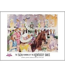 "This+attractive+poster+features+the+official+2017+Art+of+the+Oaks,+produced+by+Kentucky+artist+Jim+Cantrell.+Poster+measures+18X24.""  About+the+Artist…"