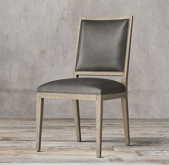 Pleasing French Contemporary Square Leather Side Chair In 2019 Ibusinesslaw Wood Chair Design Ideas Ibusinesslaworg