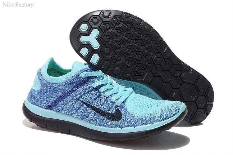 innovative design d57c5 b3b82 Women s Nike Free 4.0 Flyknit light blue black Running shoes