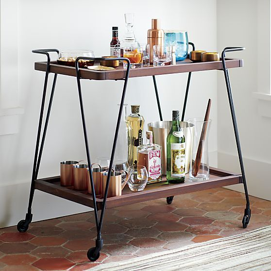 There S Never Really A Bad Time To Open A Bottle Of Bubbly But As An Interior Designer Serving And Bar Cart Decor Bar Furniture Modern Home Bar
