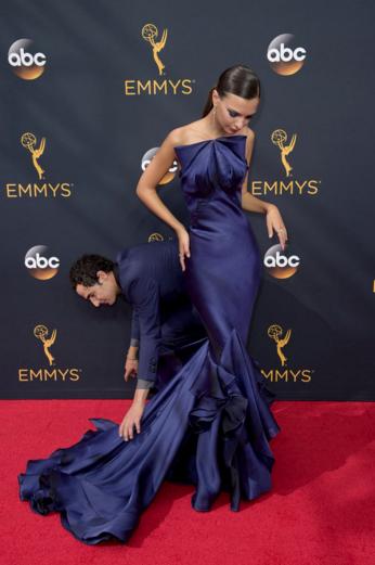 Emily Ratajkowski In Zac Posen Formal Dresses Red Carpet Celebrity Dresses Dresses