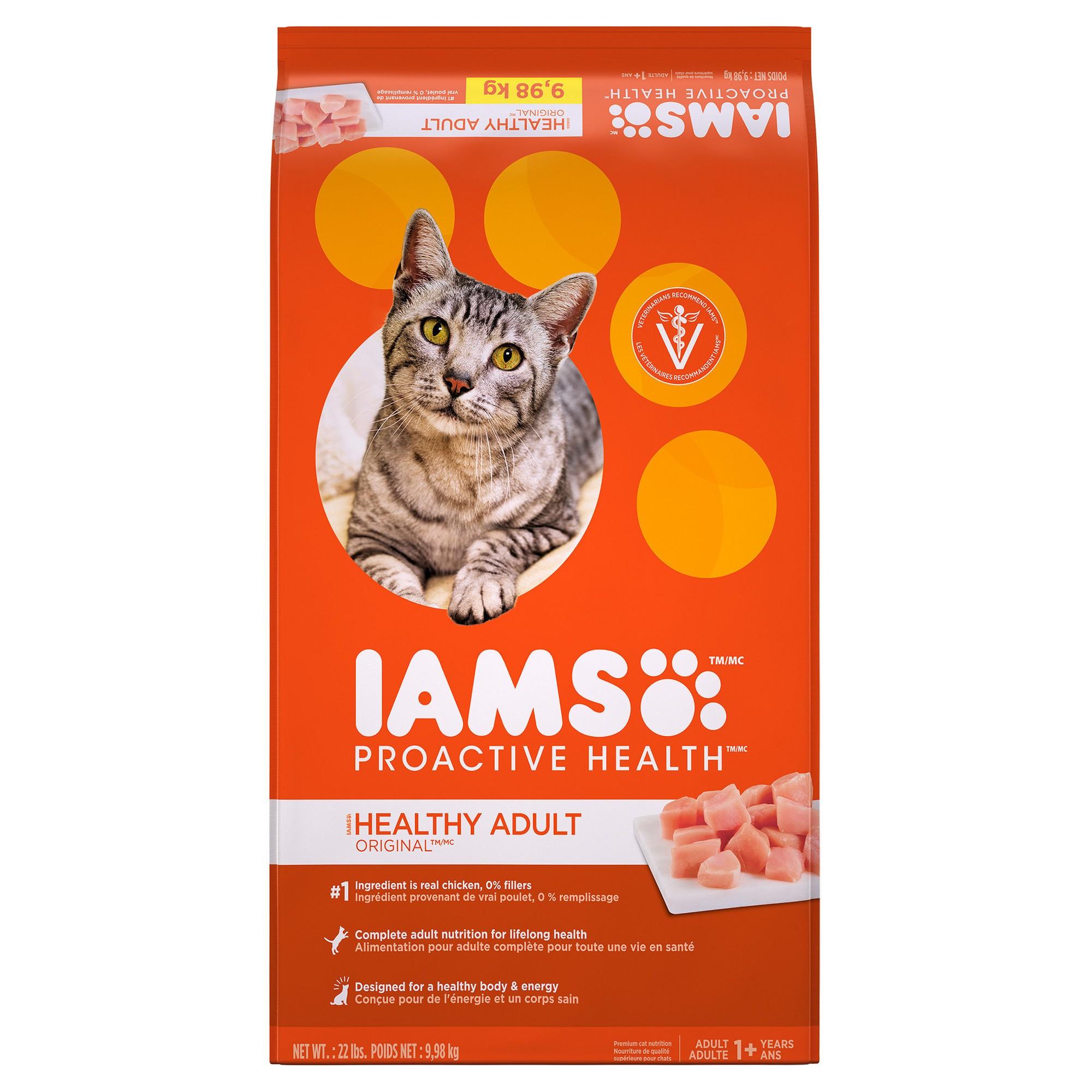 Iams Proactive Health Healthy Adult Original Dry Cat Food 22lbs