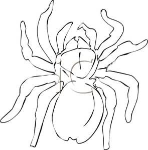 Enormous Spider Outline Royalty Free Clipart Picture Royalty Free Clipart Free Clip Art Clip Art