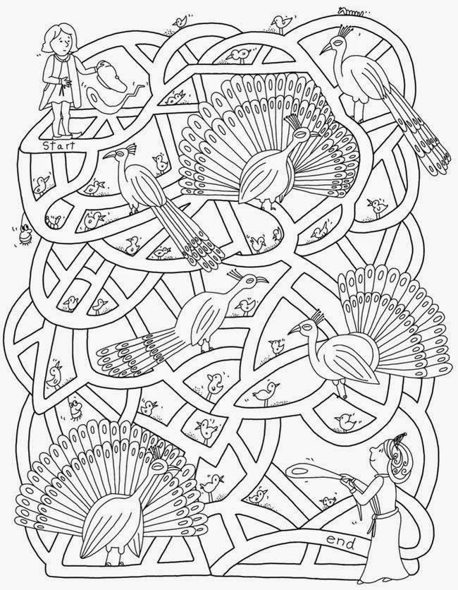 Dibujos para colorear de laberintos para niños... | Mazes | Maze ...
