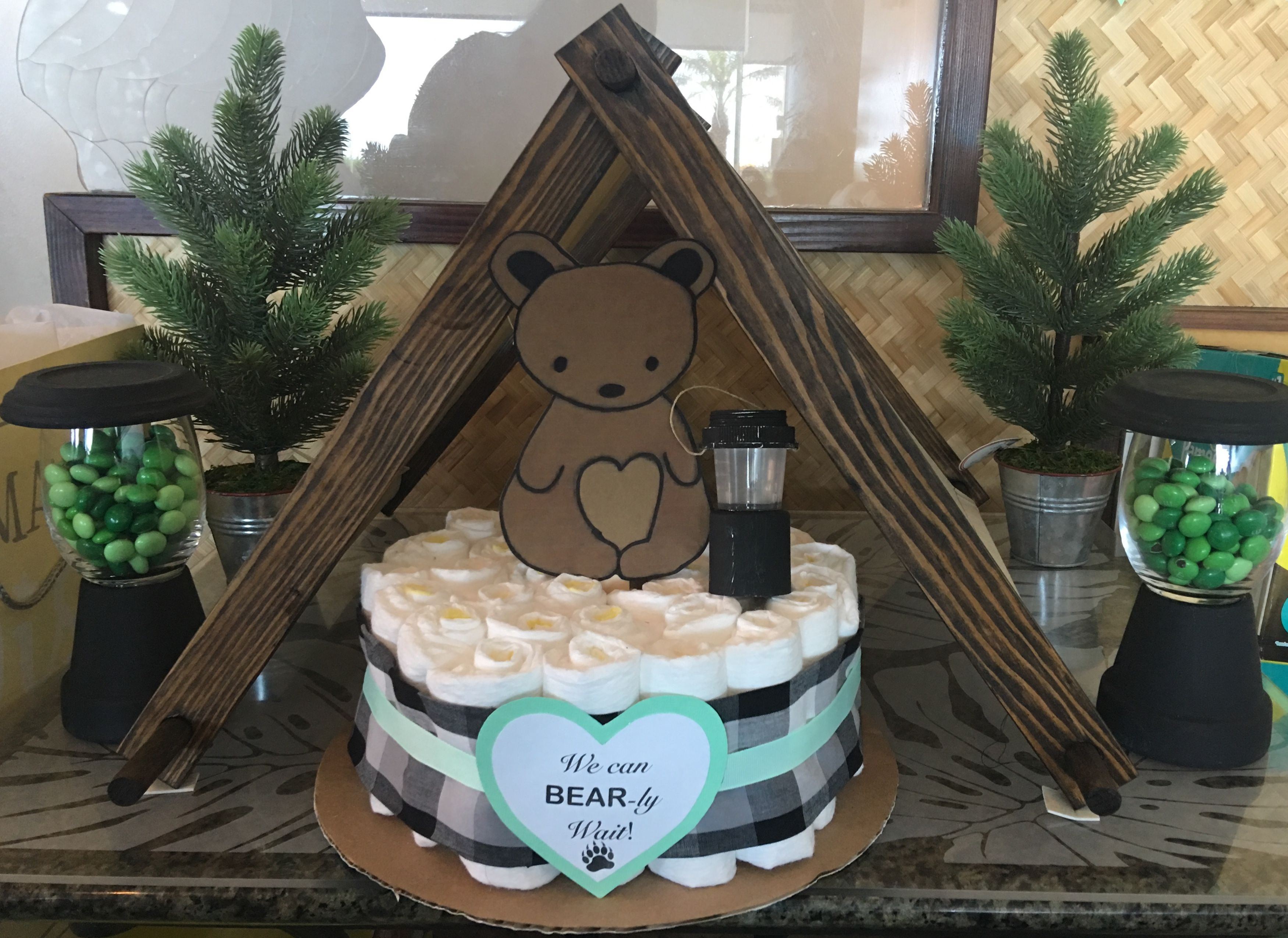 We Can Bearly Wait Camping Theme Gender Neutral Baby