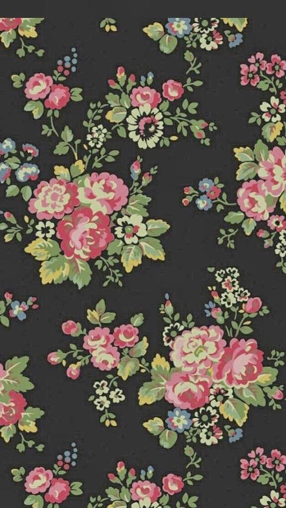Vintage Teal Floral Backgrounds
