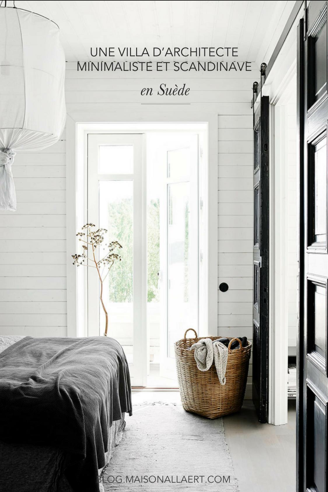 Une Villa D Architecte Scandinave En Noir Et Blanc Home Home