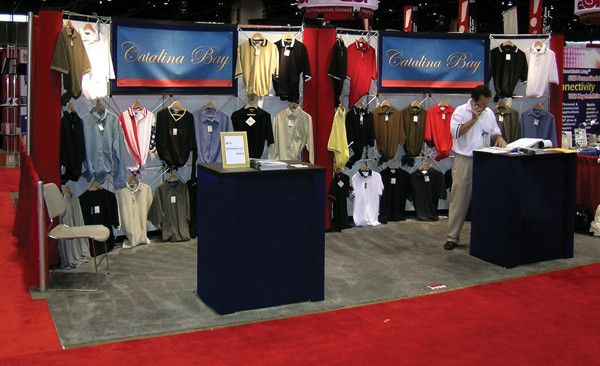 Two 10 ft  wide Apparel Merchandiser Trade Show Display