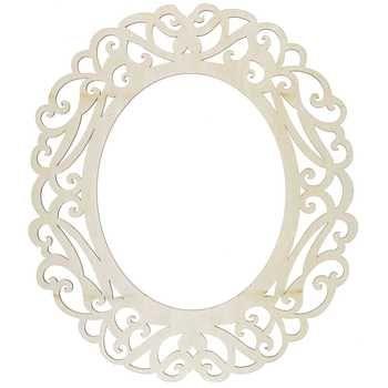 Get 8 x 10 Natural Laser Cut Oval Wood Frame online or find other ...