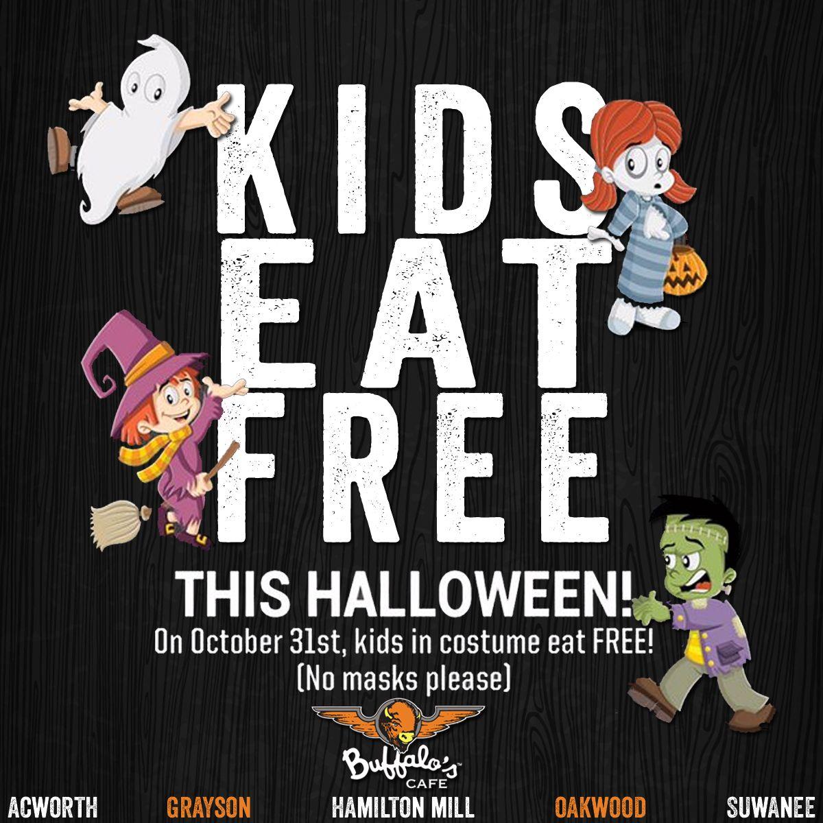 boooooooo!!!! bring your little ones in this halloween for kids eat