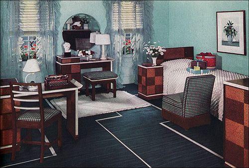 1930s Bedroom Design 1930s Interior Girls Bedroom Modern Vintage Home Decor