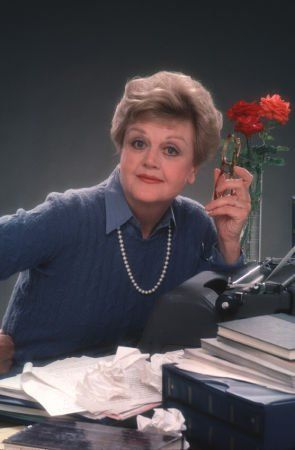 Angela Lansbury as Jessica Fletcher on Murder She Wrote.  One of my favorite shows from way back when.