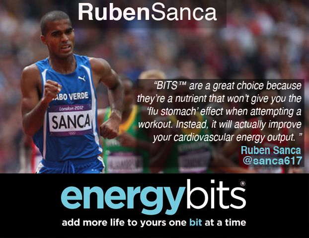 "RUBEN SANCA: ""BITS™ are a great choice because they're a nutrient that won't give you the 'flu stomach' effect when attempting a workout. Instead, it will actually improve your cardiovascular energy output.""  