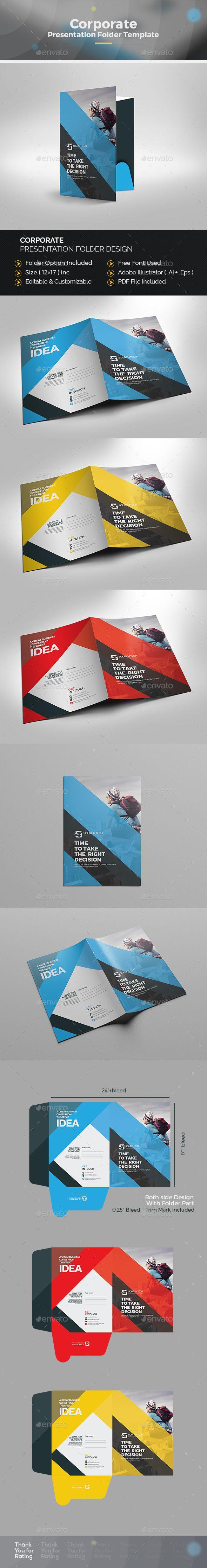 presentation folder | presentation folder, ai illustrator and template, Presentation templates