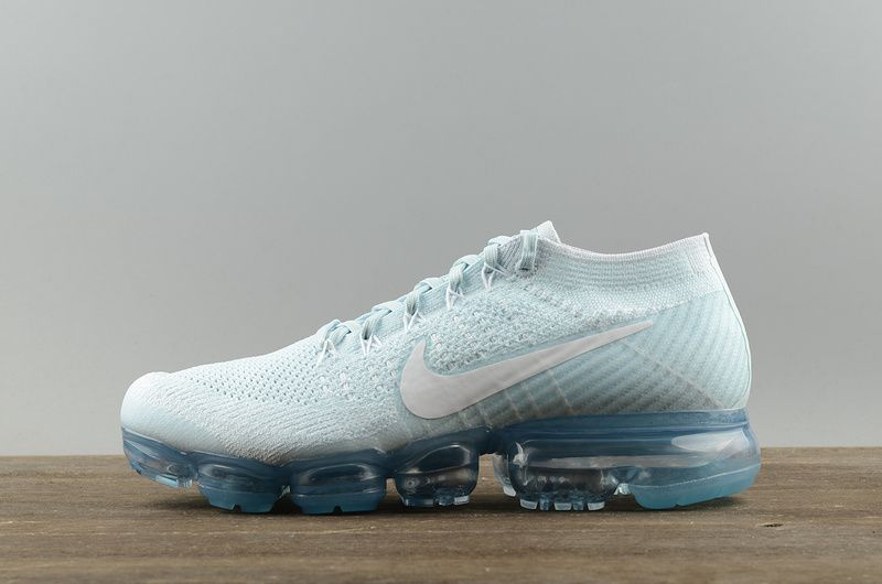 8b074a62de16 Nike Air VaporMax Flyknit Glacier Blue 2018 Running Shoes Sneakers 849558- 404