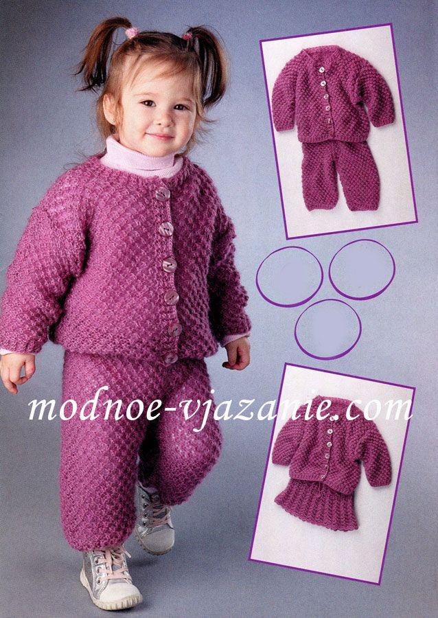 Вязание спицами кофточки реглан на девочку 3 года с описанием