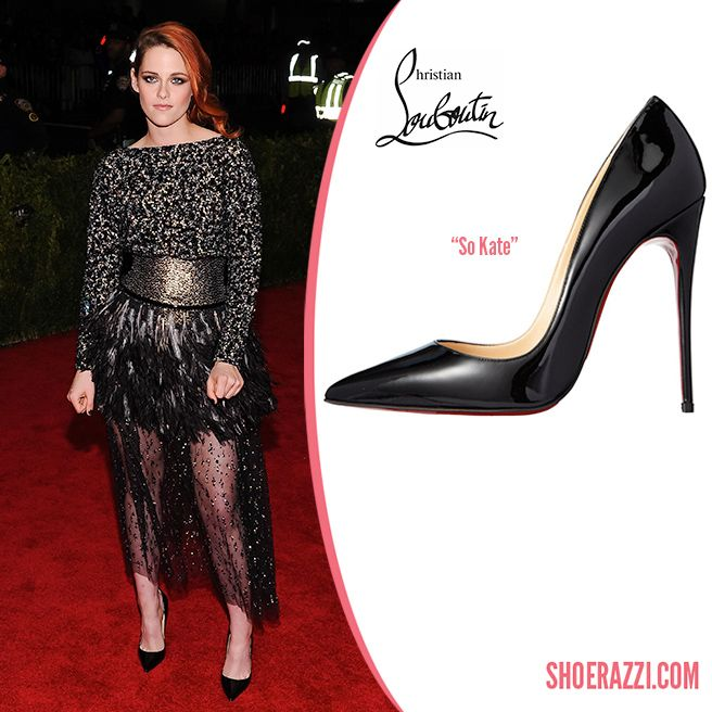 huge discount 1271d 68201 Kristen Stewart in Christian Louboutin Black Patent Leather ...