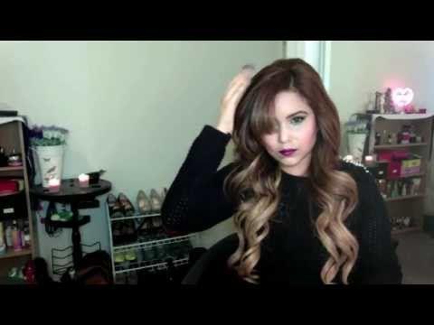 HAIR TUTORIAL BIG BARREL BOUNCY CURLS YouTube Hair