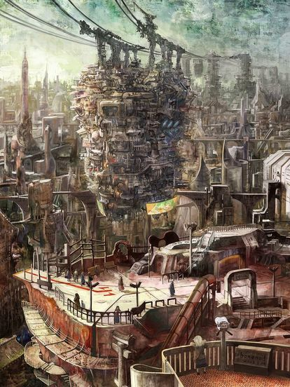 pin by d イラスト on images fantasy landscape steampunk city fantasy city