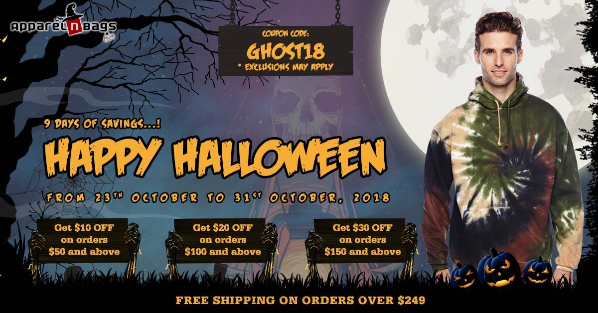 Happy Halloween! Get 10 OFF on orders 50 and above Get