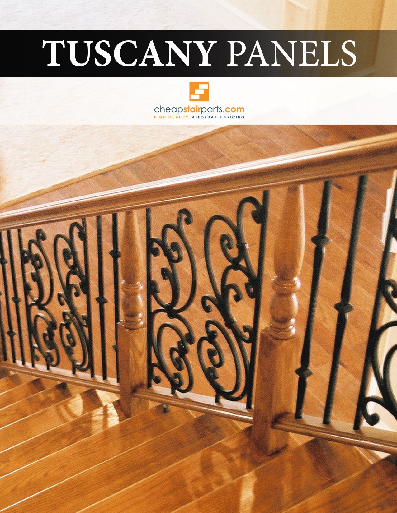 Tuscany Iron Panels Are Used To Add A Decorative Focal Point Into Your Stair Or Balcony Railing Or You Can Make A Complet Stair Remodel Stair Paneling Paneling
