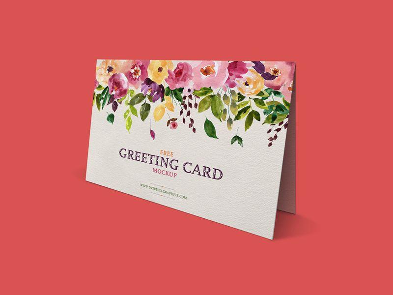 Free Standing Greeting Card Mockup Card Mockup Free Greeting Cards Free Mockup