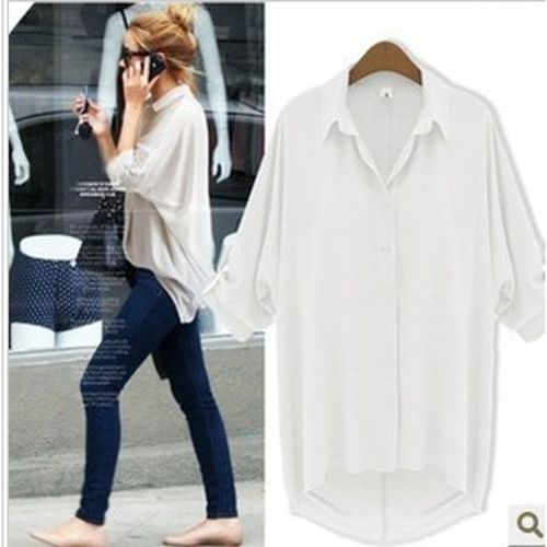Cheap 2016 la nueva moda en europa y los estados unidos mujer gasa tipo flojo manga murciélago solapa mujer camisas, Compro Calidad Blusas y Camisas directamente de los surtidores de China: 2016 Fashion In Europe And The Us Cotton Bat Sleeve Loose Shirt Women Blouses Collar Changed Unlined Upper Garment Of Bi