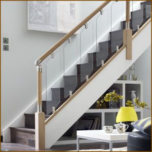 Best Fusion Stair Balustrade With Glass Stairs Design 400 x 300