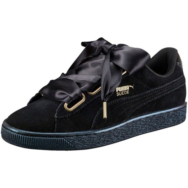 Puma Suede Heart Satin Women s Sneakers (£65) ❤ liked on Polyvore featuring  shoes f9a6107e7f4f