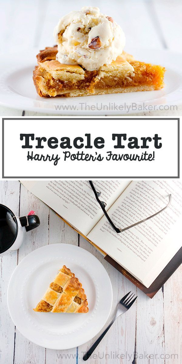 Treacle tart is made of fresh bread crumbs, delightful golden syrup, the slightest hint of lemon & a buttery crust. Harry Potter's favourite dessert!