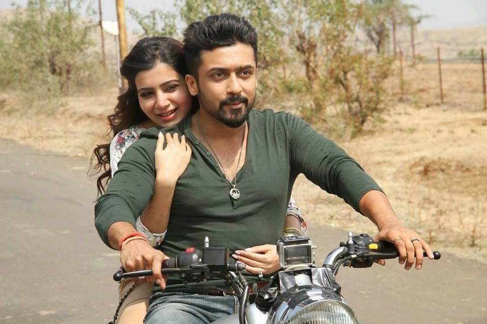 Anjaan Surya With Samantha Bike Riding Still Surya Actor Watch