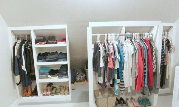 begehbarer kleiderschrank dachschr ge kleiderstange. Black Bedroom Furniture Sets. Home Design Ideas