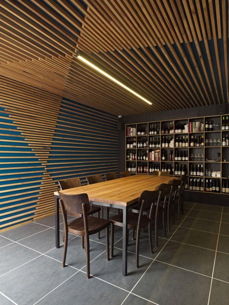 Pin Von Immanuel Nagel Auf Buroraumgestaltung In 2020 Deckenarchitektur Wandverkleidung Innen Holzdesign
